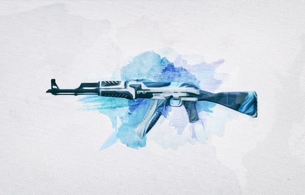 Picture weapons, background, The volcano, Weapons, Gun, rifle, AK-47, assault, Steam, Skin, Weapon, counter strike global …