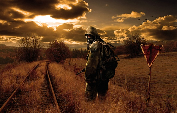 Picture the sun, sunset, nature, the evening, Stalker, Stalker