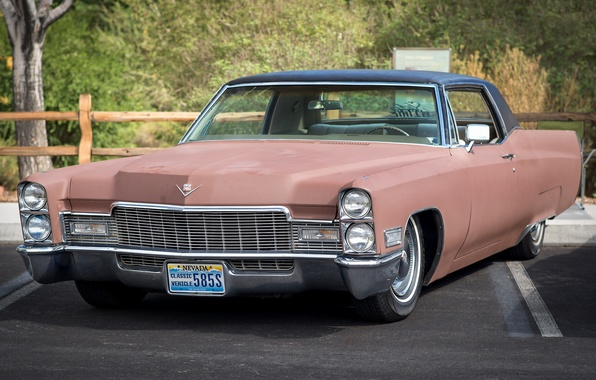 Picture retro, Cadillac, classic, the front, 1968