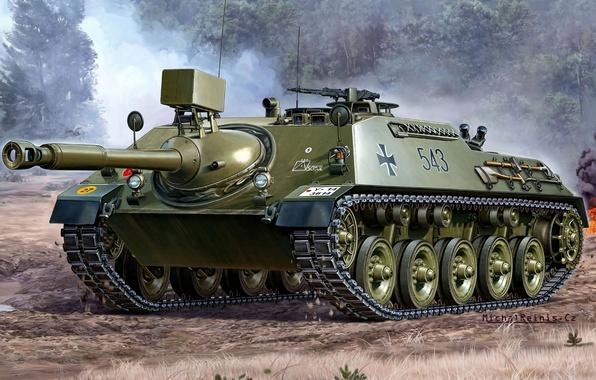 Picture Figure, German, Self-propelled, Tank fighter, Installation, (KaJaPa), Anti-tank, Cannon tank destroyers 4-5, Artillery, Tank destroyers, …