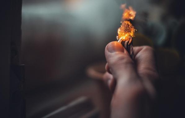 Photo Wallpaper Light Fire Lighter