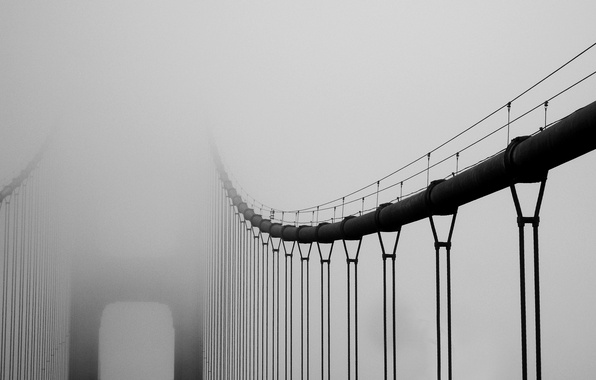 Picture bridge, city, the city, fog, california, Golden Gate Bridge, bridge, San Francisco, fog, 2560x1600