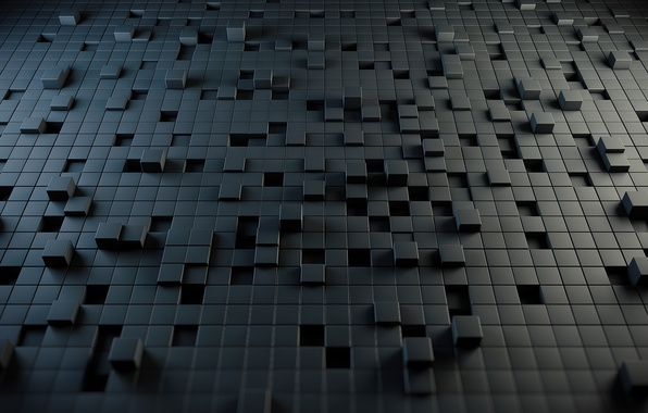 Picture abstraction, style, Cuba, style, abstraction, cubes, 2560x1600, puzzle, puzzle