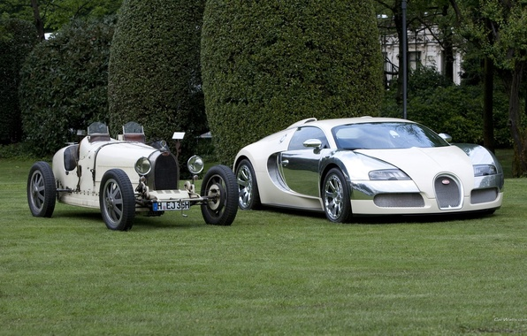 Picture white, Bugatti, veyron