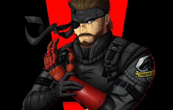 Picture soldiers, metal gear solid, bandana, Snake, prosthesis, mercenary, konami, scars, one-eyed, Kojima Productions, Naked Snake, …