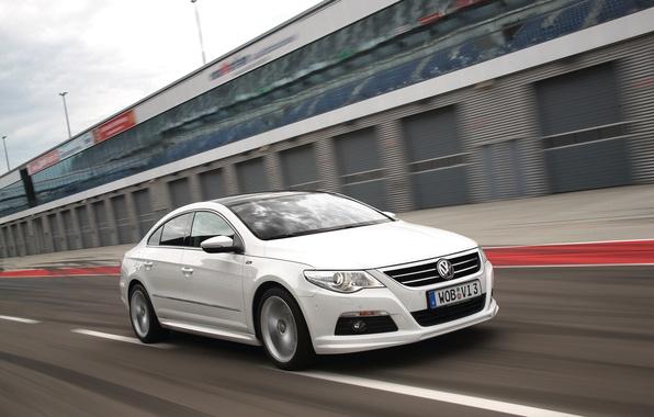 Picture Auto, White, Volkswagen, The front, Passat