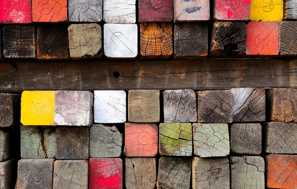 Picture tree, paint, timber