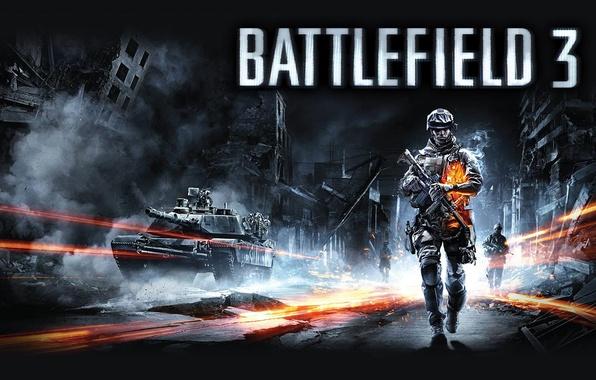 Picture Soldiers, Fighter, Tank, Battlefield 3, Battlefield