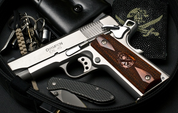 Wallpaper Gun Champion Springfield Armory Cal 45 1911 Series Images For Desktop Section