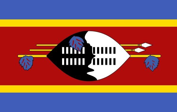Picture colors, design, flag, Swaziland