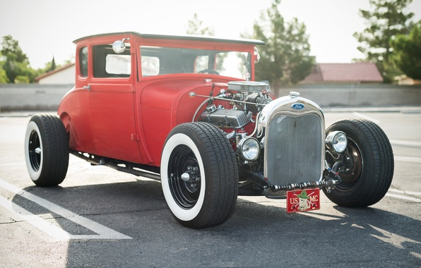 Picture retro, Ford, classic, hot-rod, classic car