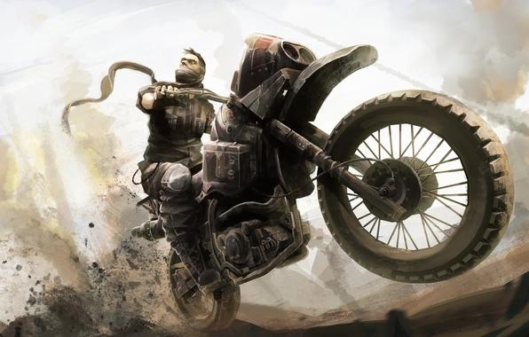 Picture sand, motorcycle, biker, bike