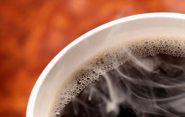 Picture vigor, bubbles, black, coffee, hot