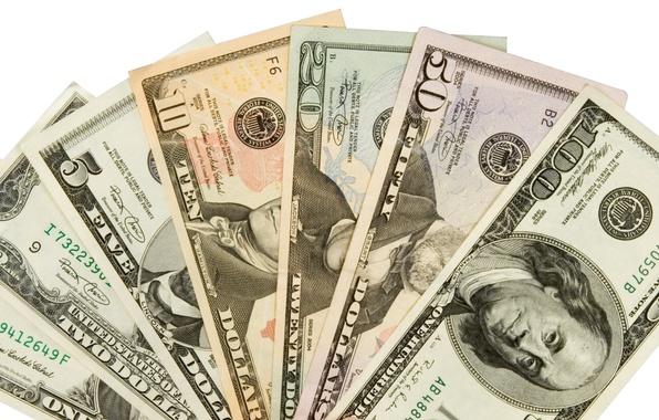 Picture money, dollar, variety