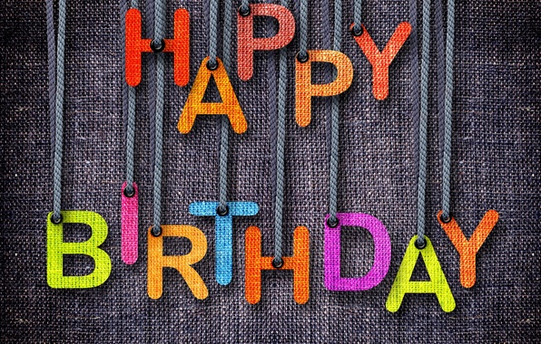 Picture text, canvas, letters, birthday, holiday, fabric