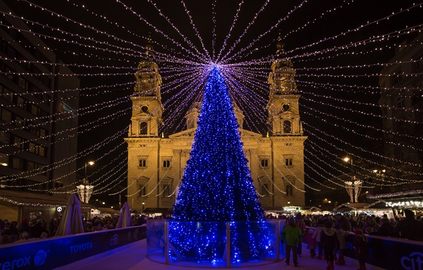 Picture Budapest, Christmas fair, Basilica