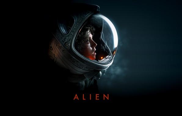 "Picture background, Thriller, Alien, sci-Fi, cult, Ellen Ripley, ""Alien"", Sigourney Weaver, Sure Weaver"