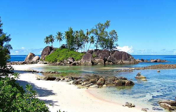 Picture nature, the ocean, stay, relax, Seychelles, exotic, Seychelles, Anse l Islette