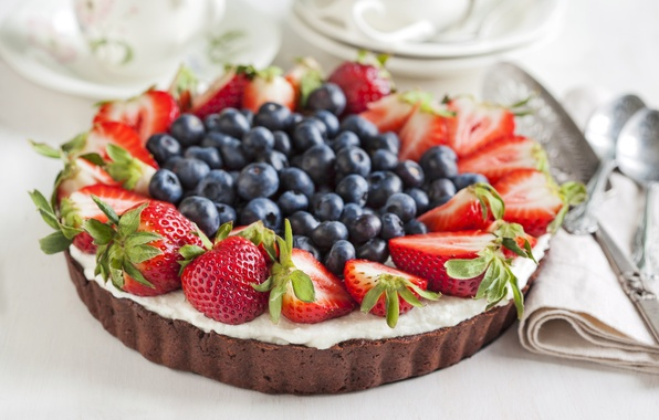 Picture berries, food, cake, dessert, dish