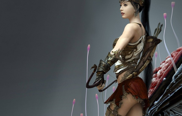 Picture Warrior, Bow, Quiver