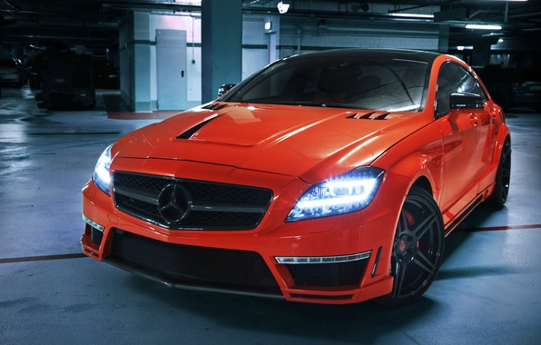 Picture light, orange, lights, Mercedes-Benz, Mercedes, AMG, the front, CLS 63, German Special Customs, GSC