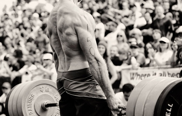 Picture power, back, b/W, black and white, male, muscle, rod, strongman