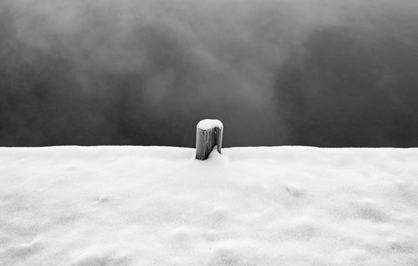 Picture sky, winter, snow, pillar