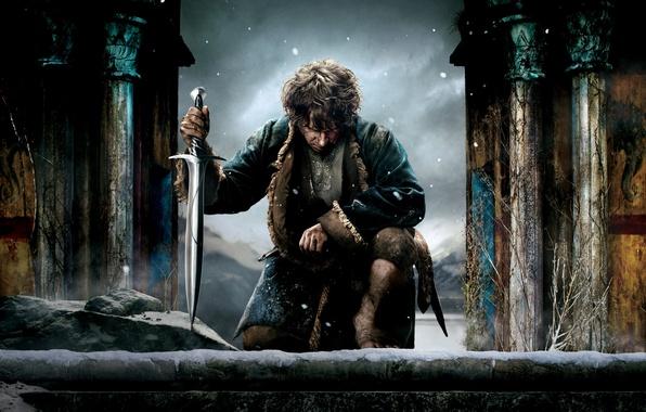 Picture sword, fantasy, the hobbit, Martin Freeman, Martin Freeman, Bilbo Baggins, The Hobbit: The Battle of …