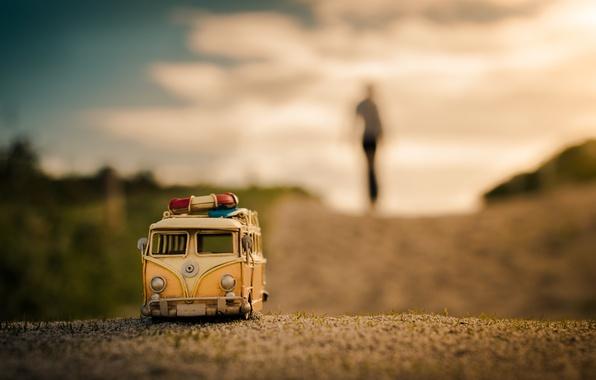 Picture road, macro, model, toy, shooting, machine, photo, photographer, minibus, model, Jamie Frith