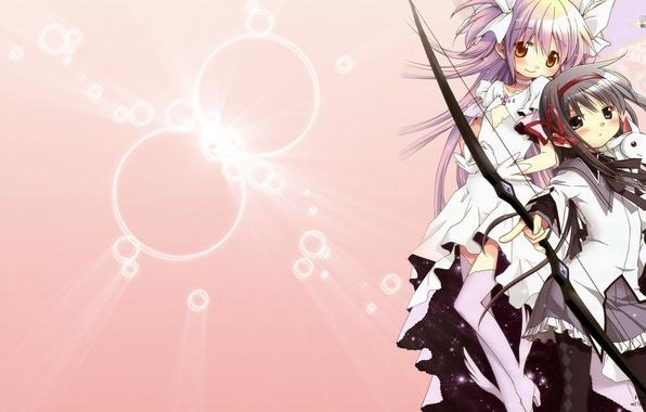 Photo Wallpaper Anime Mahou Shoujo Madoka Magica Homura AKEMI Kaname