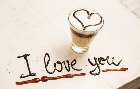 Picture love, heart, coffee, love, I love you, heart, romantic, coffee