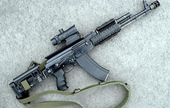 Picture background, tuning, shadow, brake, cartridge, USSR, strap, Kalashnikov, Machine, sight, designer, year, connected, shop, arm, …