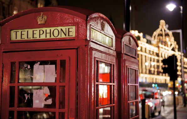 Photo wallpaper London, symbol, phone, booth, red, photo, photographer, phone, London, payphone, Jamie Frith