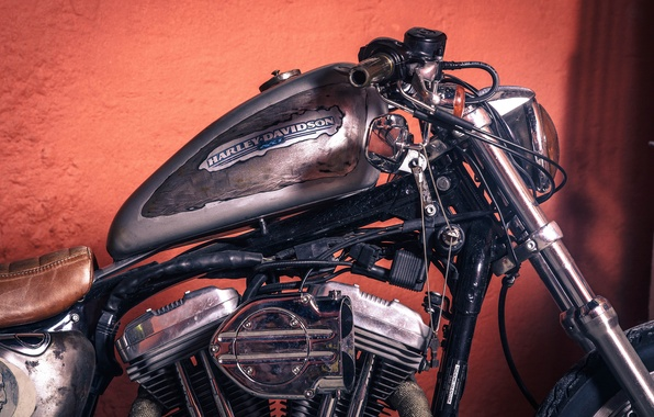 Picture chopper, vintage, motorcycle, Harley-Davidson