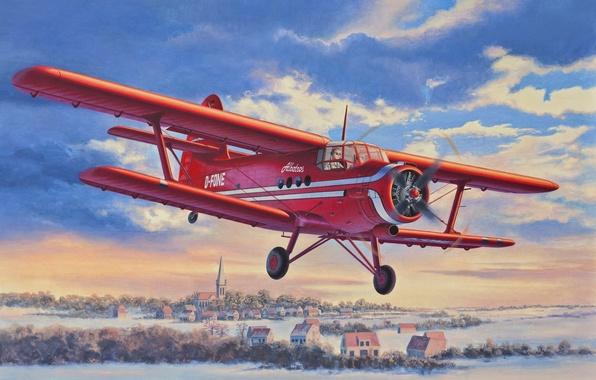 Picture the plane, figure, easy, maize, transport, Antonov, biplane, Anushka, An-2, D-FONE