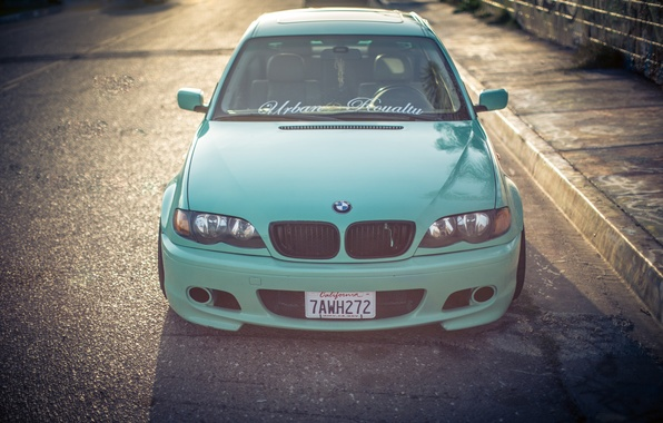 Picture lights, tuning, the hood, BMW, BMW, before, three, bumper, Drives, E46, 3 series, Stance, 325i