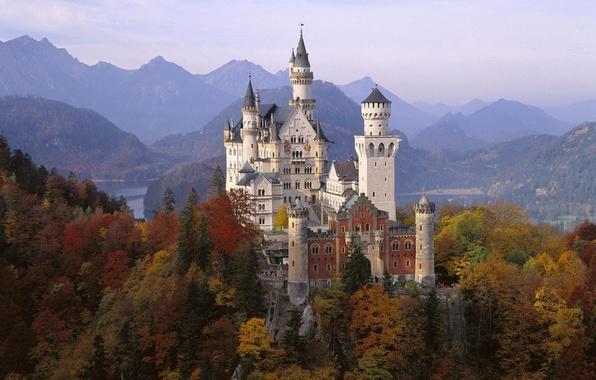 Picture autumn, castle, Germany, Bayern, Neuschwanstein, Neuschwanstein