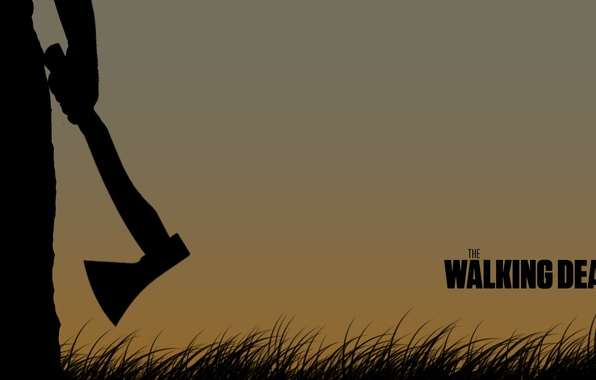 Picture the film, silhouette, male, axe, The walking dead