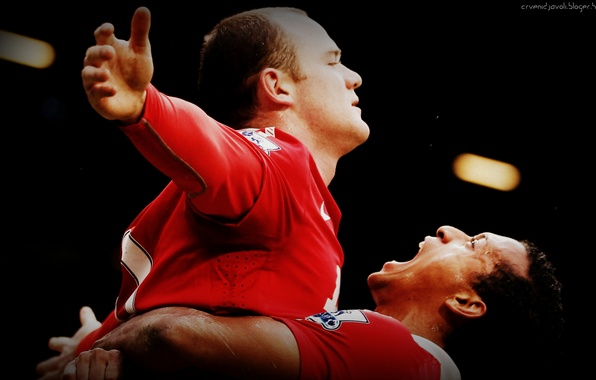 Picture football, football, rooney, soccer, nani, Nani, Rooney, Manchester United, Manchester United