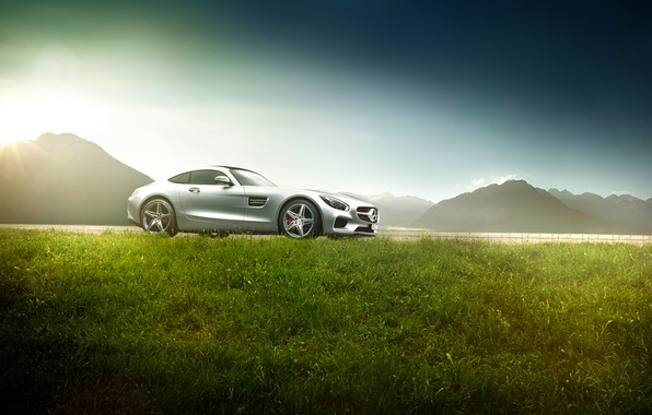 Picture Mercedes-Benz, Grass, AMG, Sun, Supercar, Exotic, Ligth, GT S