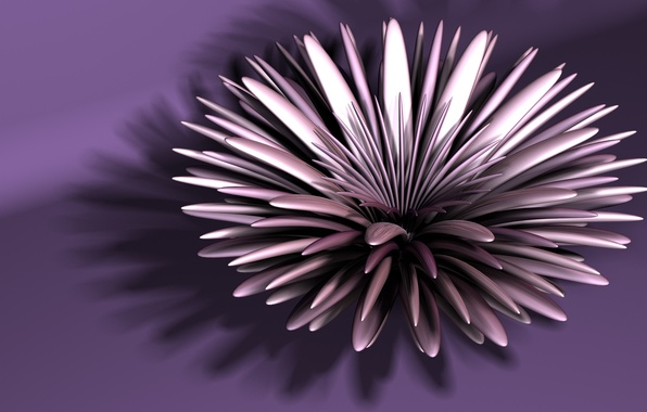 Picture flower, abstraction, fractal, Astra