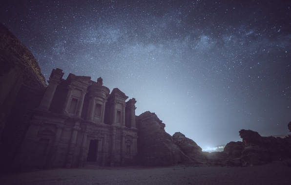 Picture space, stars, stone, mystery, Peter, The Milky Way, Jordan