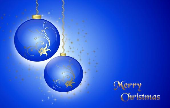Picture winter, balls, vector, Christmas, decoration, postcard