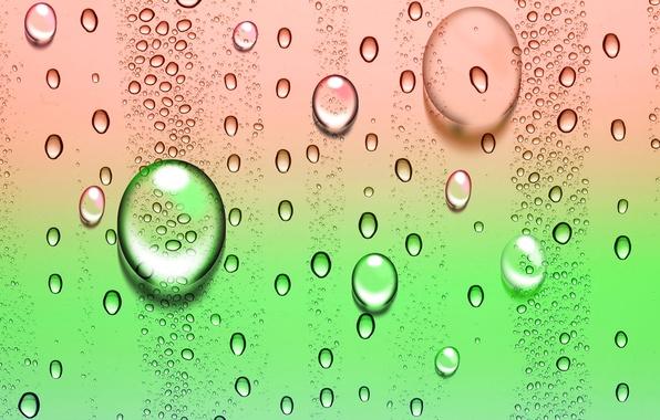 Picture drops, bubbles, color