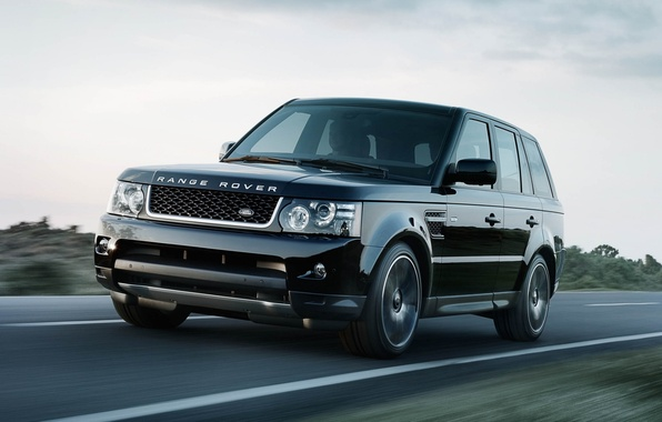 Picture road, the sky, black, Sport, jeep, Land Rover, Range Rover, the front, Sport, Range Rover, …