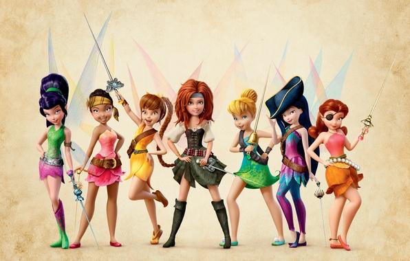 Picture Fairies, headband, Disney, swords, fairies, Disney, cocked hat, Tinkerbell, Fairy pirates, The pirate fairy, Zarina, …