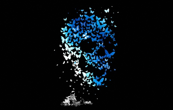 Picture Skull, Butterfly, Child, Sake, Mathiole, Matheus Lopes Castro, Butterflys, Kid