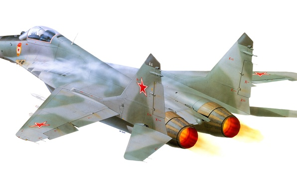 Picture the plane, easy, fighter, art, MiG, BBC, generation, OKB, Russian, multipurpose, MiG-29, The MiG-29, frontline, …