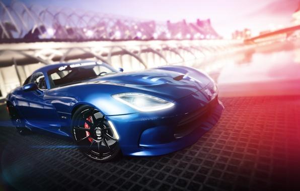 Picture blue, Dodge, Viper, Dodge, Viper, blue, Gran Turismo, SRT, PlayStation, Gran Turismo 6, GT6