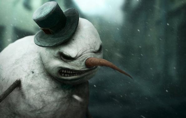 Picture Dark, Digital Art, Miscellaneous, by *Gloom82, Snowman